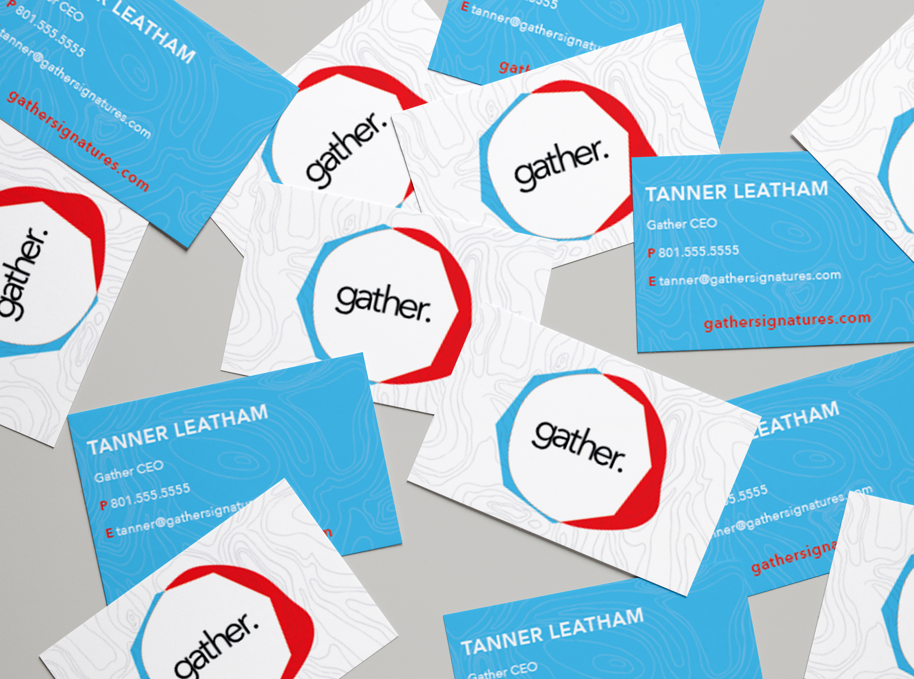 Gather Business Cards MockUp